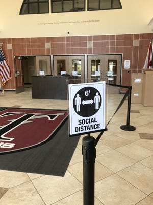 Students at Gadsden City High School, and all Gadsden City Schools, will find signs directing them to maintain social distance in halls, classrooms and all areas. Students are slated to return to in-person instruction Monday.