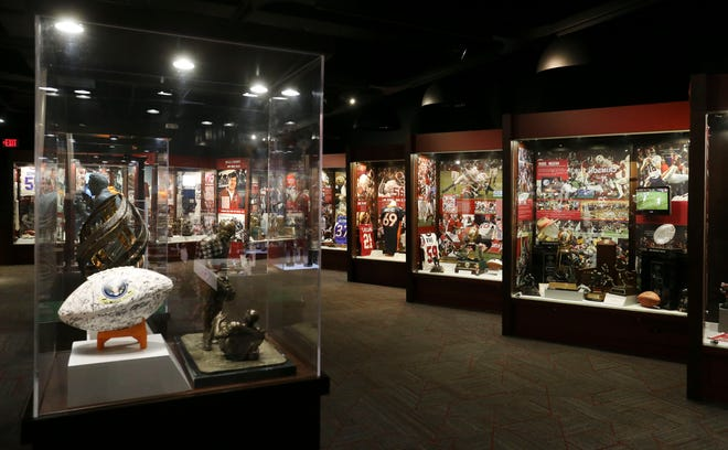 Bryant Museum is seen with some of the modifications that are in place for its reopening Wednesday, Sept. 23, 2020.  [Staff Photo/Gary Cosby Jr.]