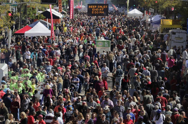 Not this year: Octoberfest's big crowds won't assemble on College Avenue this year.