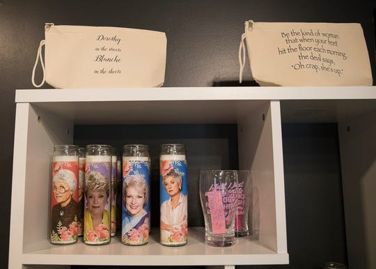 The boutique not only offers clothing items, but also novelty items like candles, soaps, jewelry, sunglasses, bags, and other items.
