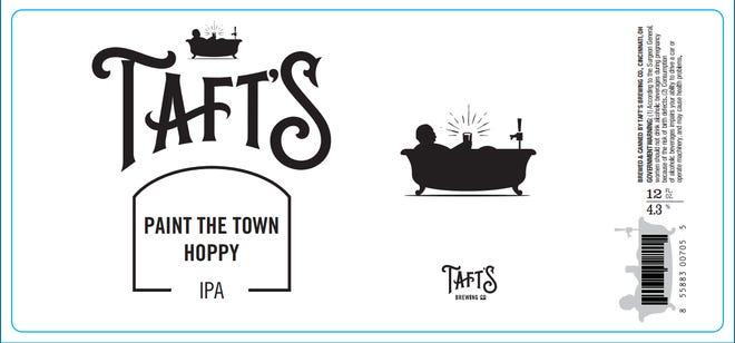 Taft's Brewing Company's next beer, Paint the Town Hoppy, will have a label designed by local artists.