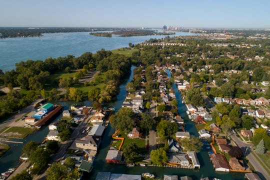 "Detroit River canals cut through the east side leading some to call the neighborhoods ""Little Venice."""
