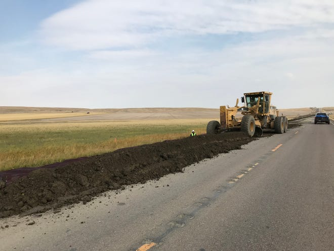 Motorists are being asked by the Montana Department of Transportation to be alert while driving on U.S. Highway 87 north of Great Falls, where dirt work tied to a $16.5 million road-widening project began Monday.