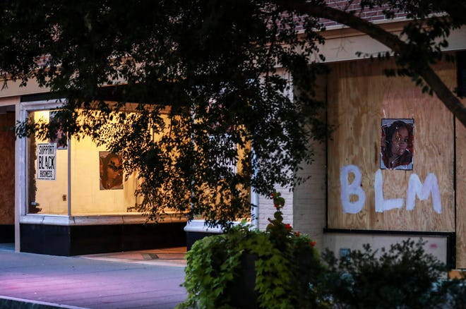 Most businesses and government buildings were boarded up on the eve before the grand jury decision in the Breonna Taylor case. Sept. 22, 2020