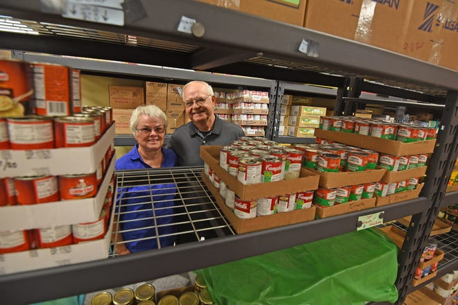 Bill and Jan Grubaugh are retiring after working 12 years at the Lucas Area Food Pantry.
