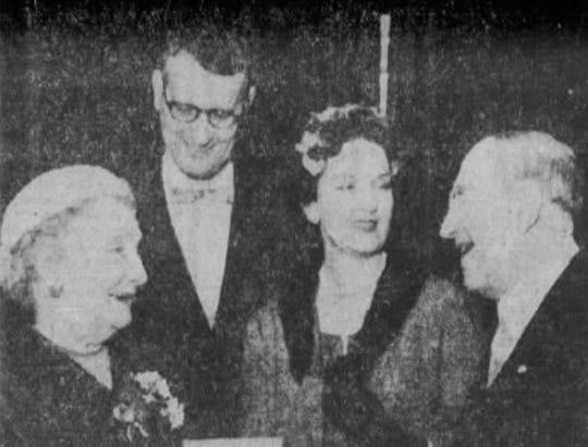 Madera A. Spencer, third from left, is shown in 1959 in her role as state president of the National League of American Pen Women.