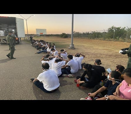 On July 13, Laredo Sector Border Patrol agents found 35 individuals inside a trailer while conducting an immigration inspection at the U.S. Highway 83 checkpoint north of Laredo. The inside trailer temperature was recorded at 126.1 degrees Fahrenheit at the time the individuals were discovered.