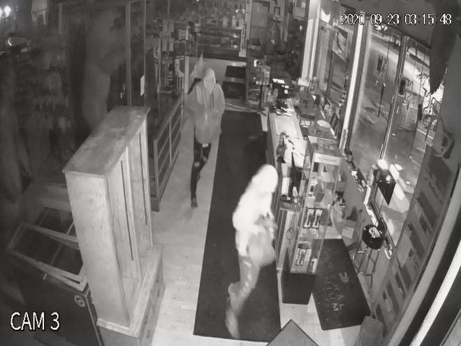 Police are searching for suspects who stole nearly 40 guns from a Rapid City gun shop.