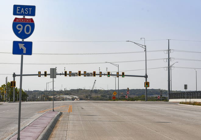 The Interstate 90 interchange at Veterans Parkway is open for traffic on Wednesday, September 23, in Sioux Falls.