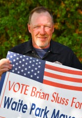 Waite Park mayor candidate Brian Sluss is pictured Tuesday, Sept. 22. 2020, in Waite Park.