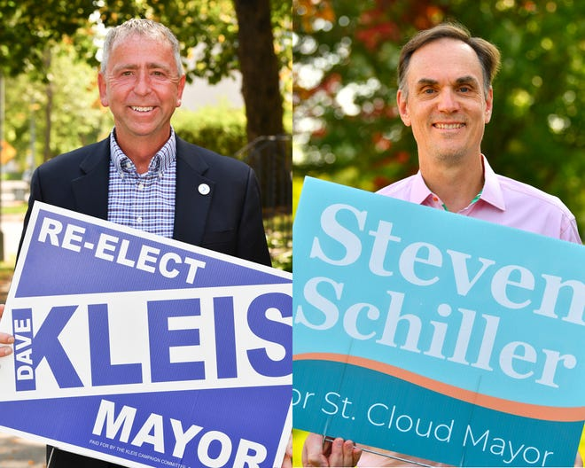 Dave Kleis and Steven Schiller are candidates in the St. Cloud mayor's race.