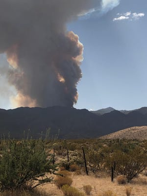 The lightning-caused Virgin Mountain Fire had burned over 1200 acres within Nevada's Gold Butte National Monument as of September 23, 2020.