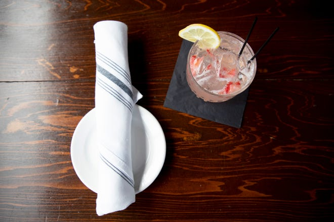 The strawberry lemonade is one of the Chuck's Fish feature drinks.