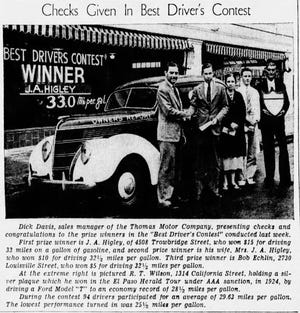 June 30, 1938: Checks were given in a best driver's contest.