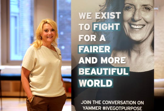 Trish Patton, Head of Human Resources for The Body Shop North America, photographed Sept. 23, 2020 at the company's Manhattan office. The Body Shop uses open hiring practices, limiting the amount of questions it asks about prospective employee's background.