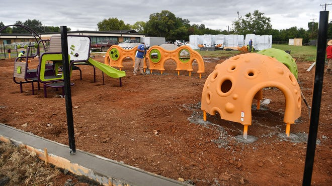 Construction got underway this week on the Play For All playground at Park Place Christian Church on University Drive.