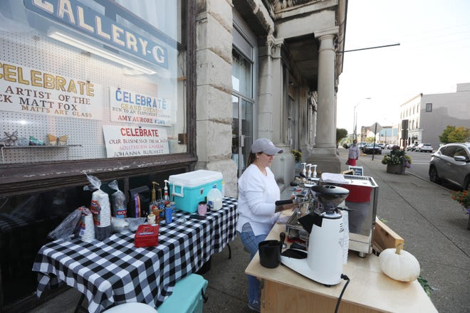 Caitlin Kane operates the Vanilla Bean Coffee Cart, which can often be found in downtown Zanesville. On Saturdays, she can be found at Adornetto's on Maple Avenue.