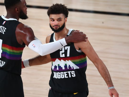 Jamal Murray is averaging 26.6 points on 50.5% shooting in the playoffs.