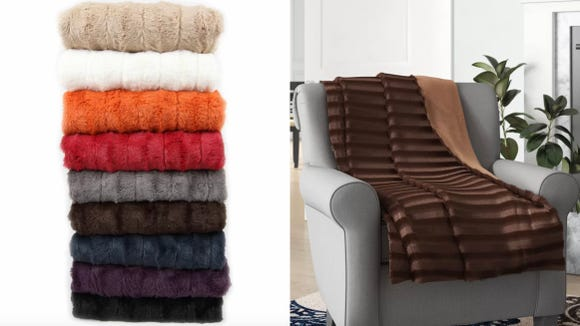 Soft to the touch and warm to the skin, this faux blanket's got you covered.