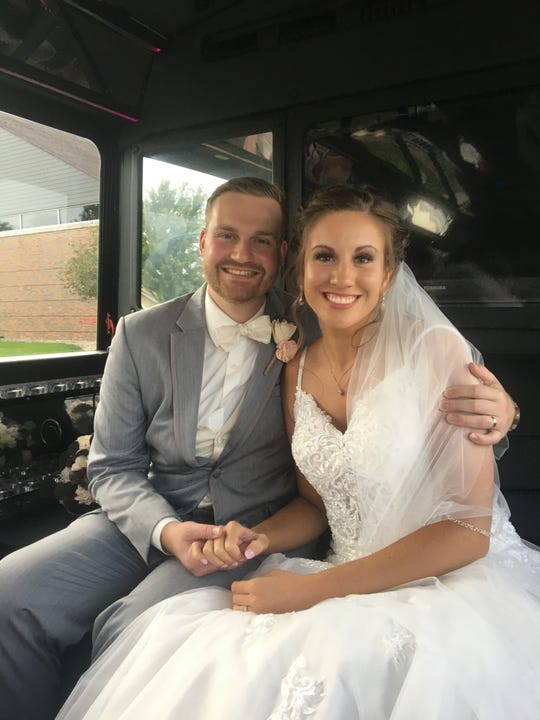 Mikayla Schmidt and Jordan Stiefel say their dream honeymoon to the Dominican Republic was scuttled by coronavirus and they couldn't get a refund from BookIt.com. After their wedding Sept. 6, they honeymooned in California instead.