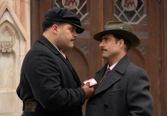 """Salvatore Esposito as Gaetano Fadda and Jason Schwartzman as his brother, Josto Fadda, Italian-American mobsters in Kansas City in FX's """"Fargo."""""""