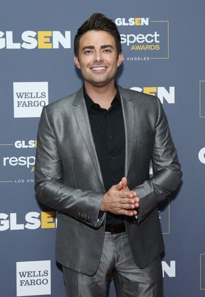 """Jonathan Bennett, at the GLSEN Respect Awards in Beverly Hills, Calif. on Oct. 25, 2019, will star in a Hallmark """"Countdown to Christmas"""" movie this year."""