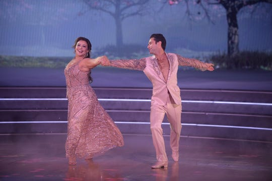 Justina Machado was enchanting with Sasha Farber. J
