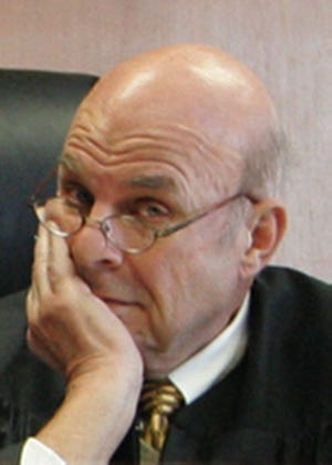 Judge Michael Weigand presides at court in Akron in 2010.