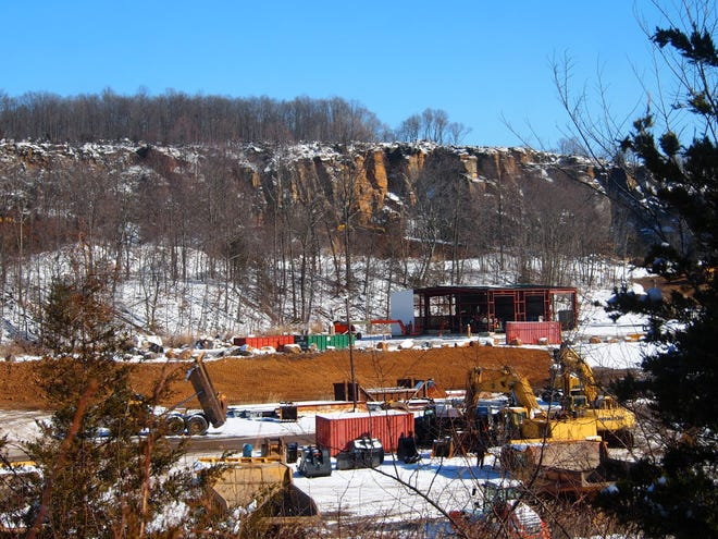 East Rockhill officials are asking the state to require inactive quarries like the Rockhill Quarry pictured above keep scales on site ot weigh trucks. Officials have raised doubts about the quarry's records reporting it removed 500 tons of stone per year to keep a state mining permit active. [ARCHIVE PHOTO]