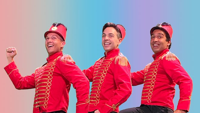 """From left: Zachary Bigelow, Nick Hardin and Jiovanni Daniel play band members in """"You Can't Take the Color Out of Colorado"""" in Short North Stage's virtual production of """"When Pigs Fly."""""""