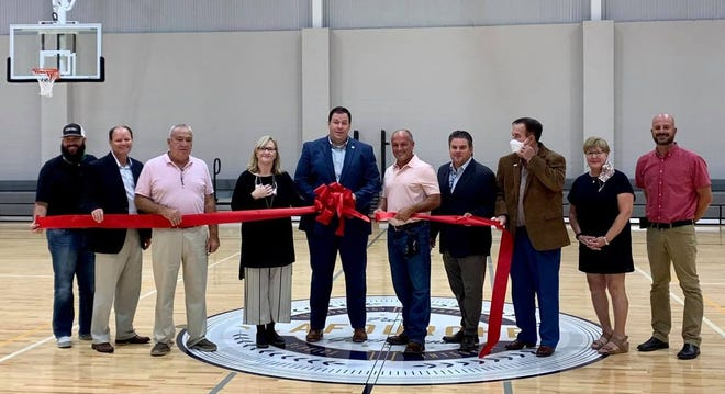 Lafourche Parish President Archie Chaisson and other officials cut the ribbon Wednesday on the Lockport Community Center.