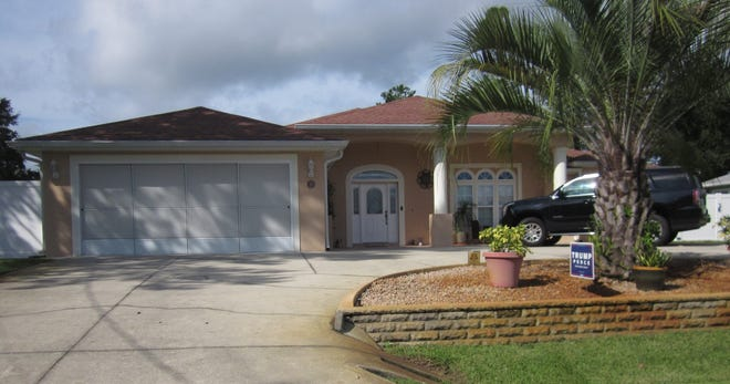 This Francis Court home was built in 2007 and has three bedrooms and four baths in 2,846 square feet of living space. It also has two master suites, a circular drive, a screened lanai and a fenced backyard, and it sold recently for $345,000.