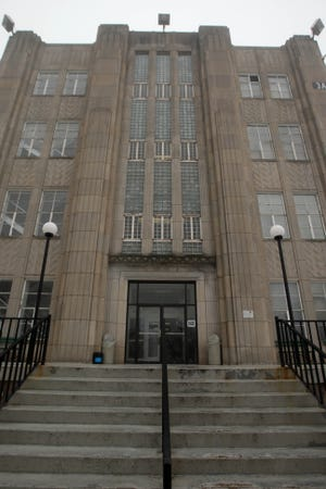 The entrance to the Mount Pleasant Correctional Facility is shown Feb. 20, 2014 in Mount Pleasant.