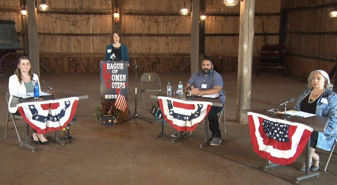The Hudson League of Women Voters 2020 Candidates Forum features candidates for the Hudson City Council At-Large seat, Summit County Council District 3, 37th Ohio District Representative, and Representative for Ohio's 14th congressional district.