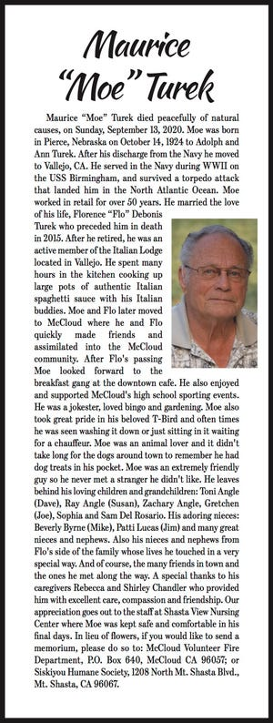 Obituary: 'Moe' Turek