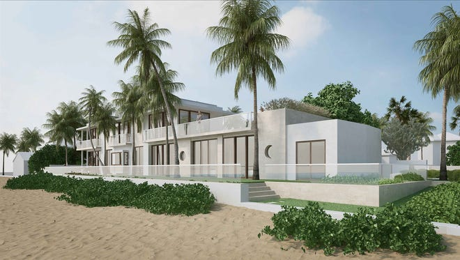 The Architectural Commission has approved the design of a beachfront house at 977 S. Ocean Blvd. after requesting what amounted to a complete redesign. The house is just down the street from the Mar-a-Lago Beach Club.