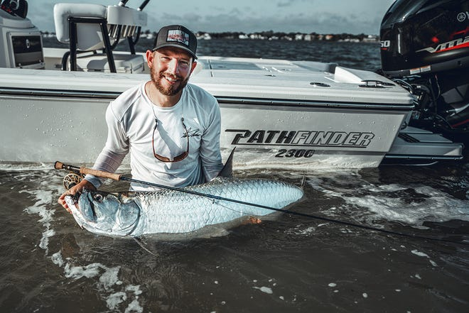 Travis Luther fished with Capt. Tommy Derringer in the St. Augustine Inlet last week for this tarpon. Travis is an exceptional fishing artist who specializes in doing commission paintings of your catch. Go to travislutherart.com for more info on him. Go to Inshore Adventures fishing for more info on Tommy's charters.