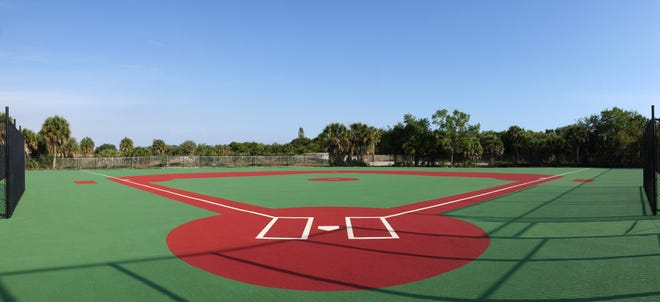 """The special rubber field at Venice Challenger Baseball's """"Field of Dreams"""" complex makes it easier for wheelchair competitors."""