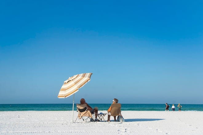 A Siesta Beach moment in 2011. Eleven out of the top 20 oldest cities in the U.S. by resident age are in Florida.