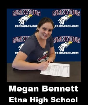 Etna High School graduate Megan Bennett has signed with College of the Siskiyous, where she'll play basketball.