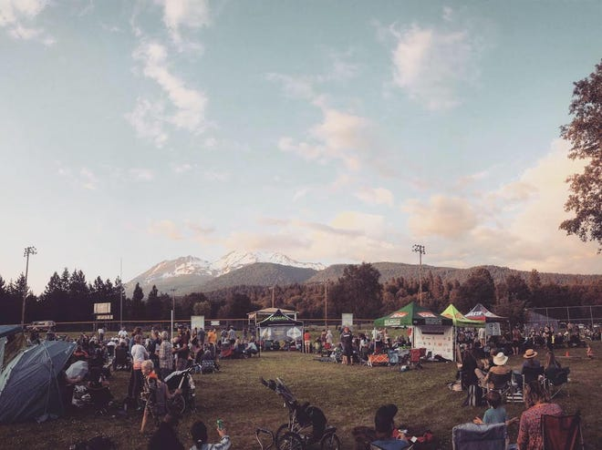 Mount Shasta's Shastice Park is often used for outdoor concerts, like this one in the summer of 2019.