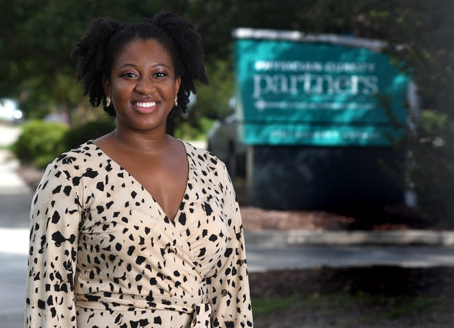 Elizabeth Barfield, Education Specialist with New Hanover Regional Medical Center, stands outside her office in Wilmington, N.C., Tuesday, August 18, 2020. Barfield is one of the 40 Under 40 honorees for 2020.