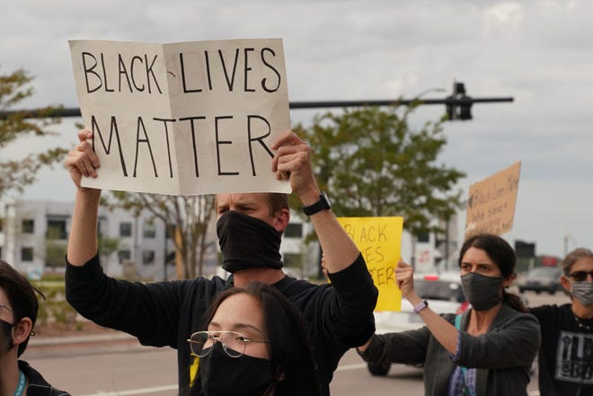 Black Lives Matter and Women Organizing For Wilmington held a rally to protest the Breonna Taylor verdict in September.