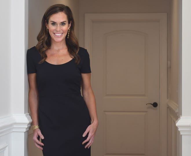 Jessica Edwards, Realtor, The Carolinas Finest Team at Coldwell Banker Sea Coast Advantage; Global Luxury Ambassador, Coldwell Banker LLC at her home in Wilmington N.C., Wednesday, Aug. 25, 2020. Edwards is one of the 40 Under 40 honorees for 2020. [MATT BORN/STARNEWS]