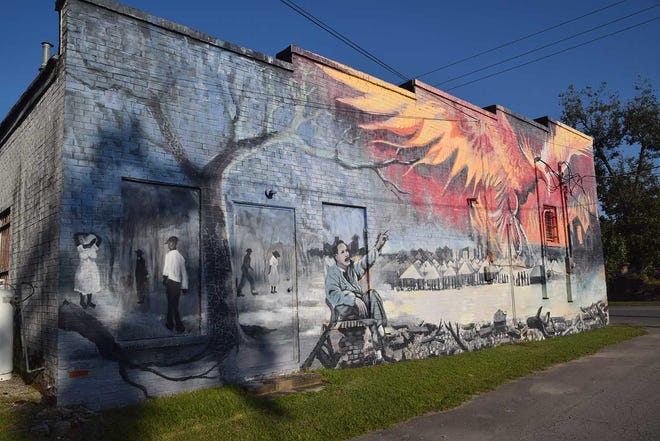 The Craven Arts Council & Gallery hopes to put more public art such at Phoenix in its Five Points Public Art project, fueled by A Community Thrives grant.