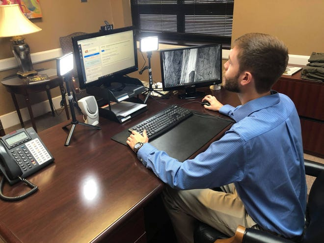 """The Chamber reconfigured an open office into a """"virtual lab"""" so it could, according to officials there, more efficiently and professionally deliver webinars and virtual training sessions."""