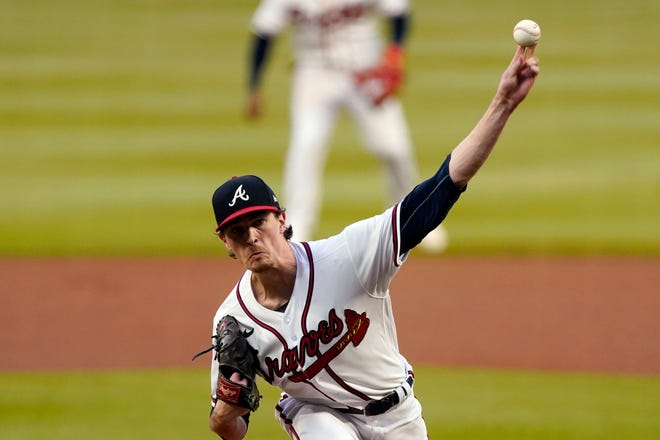 Atlanta's Max Fried pitches against Miami on Wednesday.