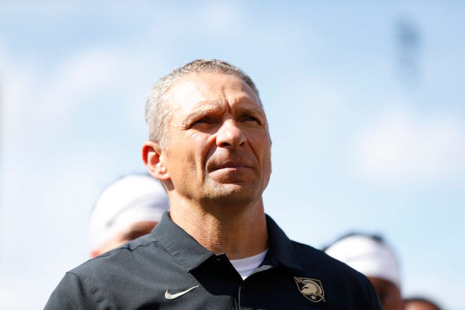 Army football coach Jeff Monken was able to spend some time with his family last weekend after an unforeseen bye week but it's back to business with Top 25 matchup against No. 14 Cincinnati Saturday. PAUL SANCYA/AP