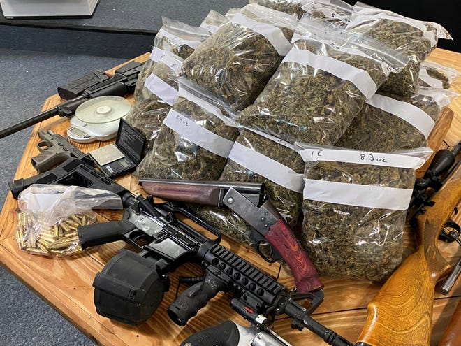 RADE agents seized 7.5 pounds of marijuana and seven weapons Sept. 18 after a search warrant was served at a Pineville home.