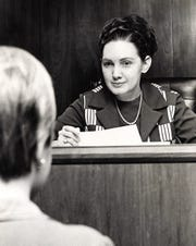 Joanne Strauss on the bench in the city of Abilene's Corporation Court in November 1969. She succeeded Jo Jameson, who died that year. Her husband was Henry Strauss, who presided over Taylor County's domestic relations court.